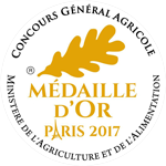 Médaille OR Salon international de l'agriculture 2017